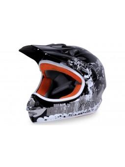 Schutzausrüstung  X-treme Kinder Cross Helm - Schwarz
