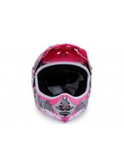 Schutzausrüstung  X-treme Kinder Cross Helm - Pink