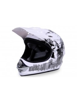 Kinderfahrzeuge  X-treme Kinder Cross Helm - Weiß