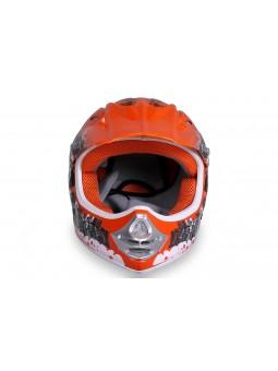 Schutzausrüstung  X-treme Kinder Cross Helm - Orange
