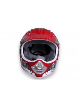 Schutzausrüstung  X-treme Kinder Cross Helm - Rot
